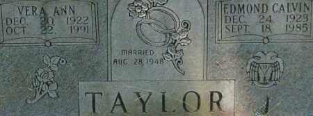 TAYLOR, EDMOND CALVIN (CLOSE UP) - Garland County, Arkansas | EDMOND CALVIN (CLOSE UP) TAYLOR - Arkansas Gravestone Photos