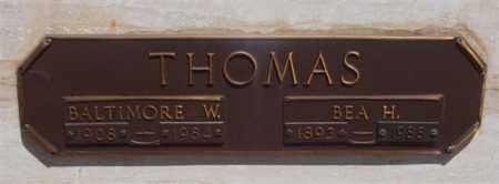 THOMAS, BEA HELEN - Garland County, Arkansas | BEA HELEN THOMAS - Arkansas Gravestone Photos