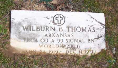 THOMAS (VETERAN WWII), WILBURN B. - Garland County, Arkansas | WILBURN B. THOMAS (VETERAN WWII) - Arkansas Gravestone Photos
