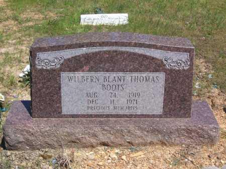 "THOMAS, WILBERN BLANT ""BOOTS"" - Garland County, Arkansas | WILBERN BLANT ""BOOTS"" THOMAS - Arkansas Gravestone Photos"