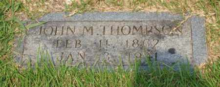 THOMPSON, JOHN M. - Garland County, Arkansas | JOHN M. THOMPSON - Arkansas Gravestone Photos