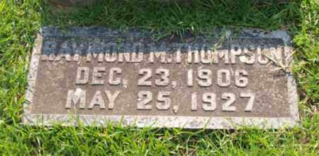 THOMPSON, RAYMOND M. - Garland County, Arkansas | RAYMOND M. THOMPSON - Arkansas Gravestone Photos