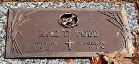TODD, RAE F - Garland County, Arkansas | RAE F TODD - Arkansas Gravestone Photos