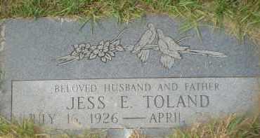 TOLAND, JESS E. - Garland County, Arkansas   JESS E. TOLAND - Arkansas Gravestone Photos