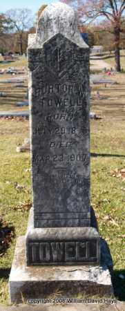 TOWELL, BURTON W. - Garland County, Arkansas | BURTON W. TOWELL - Arkansas Gravestone Photos