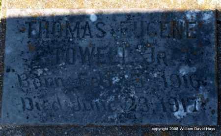 TOWELL, JR., THOMAS EUGENE - Garland County, Arkansas   THOMAS EUGENE TOWELL, JR. - Arkansas Gravestone Photos