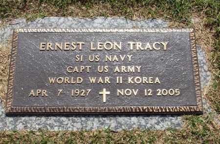 TRACY (VETERAN 2 WARS), ERNEST LEON - Garland County, Arkansas | ERNEST LEON TRACY (VETERAN 2 WARS) - Arkansas Gravestone Photos