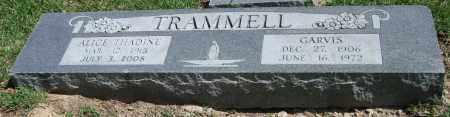 TRAMMELL, ALICE THADINE - Garland County, Arkansas   ALICE THADINE TRAMMELL - Arkansas Gravestone Photos