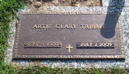 CLARY TRIBBLE, ARTIE - Garland County, Arkansas | ARTIE CLARY TRIBBLE - Arkansas Gravestone Photos