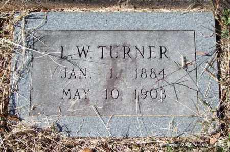TURNER, L. W. - Garland County, Arkansas | L. W. TURNER - Arkansas Gravestone Photos