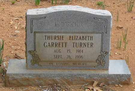 TURNER, THURSIE ELIZABETH - Garland County, Arkansas | THURSIE ELIZABETH TURNER - Arkansas Gravestone Photos