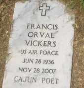 VICKERS (VETERAN), FRANCIS ORVAL - Garland County, Arkansas | FRANCIS ORVAL VICKERS (VETERAN) - Arkansas Gravestone Photos