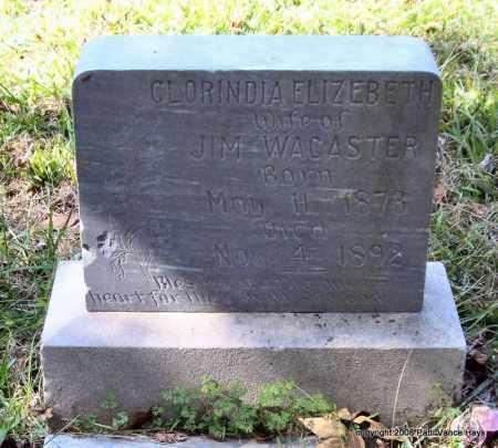 WACASTER, CLORINDA ELIZEBETH - Garland County, Arkansas   CLORINDA ELIZEBETH WACASTER - Arkansas Gravestone Photos