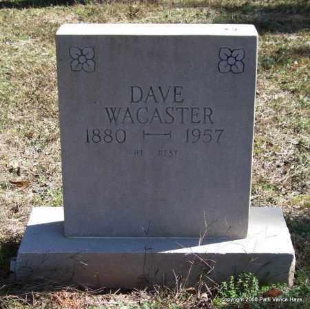WACASTER, DAVE - Garland County, Arkansas | DAVE WACASTER - Arkansas Gravestone Photos