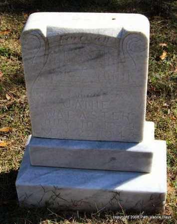 WACASTER, JANIE - Garland County, Arkansas | JANIE WACASTER - Arkansas Gravestone Photos