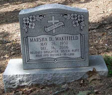 WAKEFIELD, MARSHA D. - Garland County, Arkansas | MARSHA D. WAKEFIELD - Arkansas Gravestone Photos