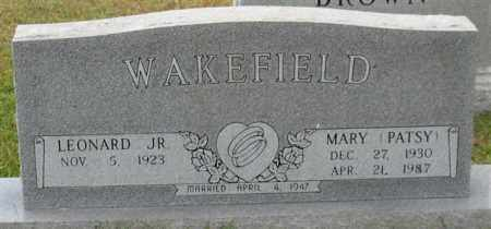 WAKEFIELD, MARY (PATSY) - Garland County, Arkansas | MARY (PATSY) WAKEFIELD - Arkansas Gravestone Photos