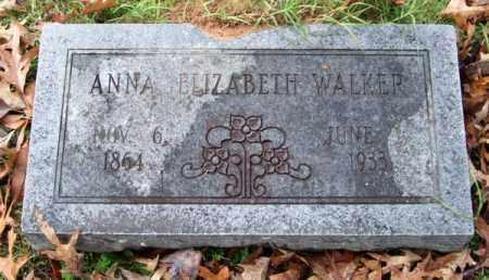 WALKER, ANNA ELIZABETH - Garland County, Arkansas   ANNA ELIZABETH WALKER - Arkansas Gravestone Photos