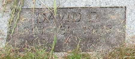 WALKER, DAVID D. (CLOSE UP) - Garland County, Arkansas   DAVID D. (CLOSE UP) WALKER - Arkansas Gravestone Photos