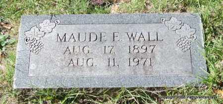 WALL, MAUDE E. - Garland County, Arkansas | MAUDE E. WALL - Arkansas Gravestone Photos