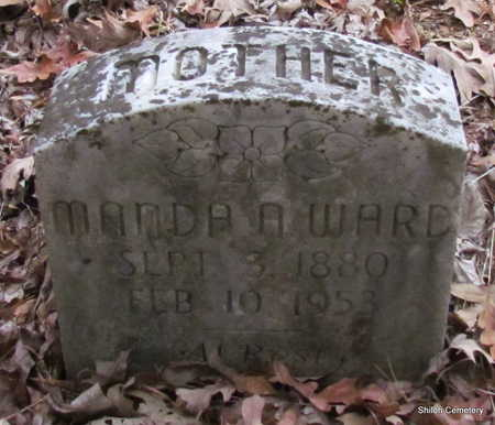 WARD, MANDA A. - Garland County, Arkansas   MANDA A. WARD - Arkansas Gravestone Photos