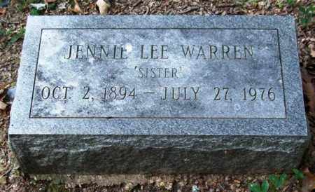 WARREN, JENNIE LEE - Garland County, Arkansas | JENNIE LEE WARREN - Arkansas Gravestone Photos