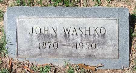 WASHKO, JOHN - Garland County, Arkansas   JOHN WASHKO - Arkansas Gravestone Photos