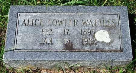 FOWLER WATTLES, ALICE - Garland County, Arkansas | ALICE FOWLER WATTLES - Arkansas Gravestone Photos