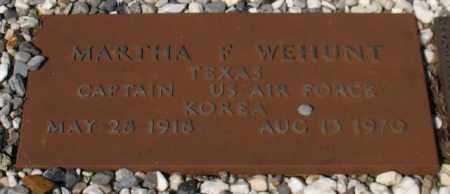 WEHUNT (VETERAN KOR), MARTHA F - Garland County, Arkansas   MARTHA F WEHUNT (VETERAN KOR) - Arkansas Gravestone Photos