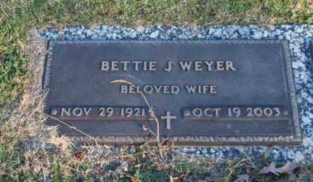 WEYER, BETTIE J - Garland County, Arkansas | BETTIE J WEYER - Arkansas Gravestone Photos