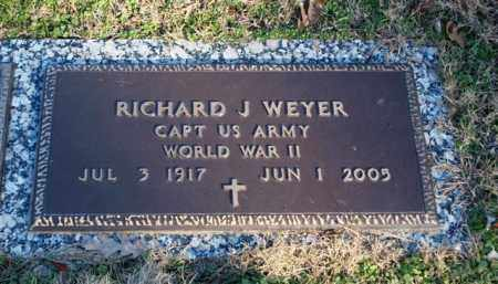 WEYER (VETERAN WWII), RICHARD J - Garland County, Arkansas   RICHARD J WEYER (VETERAN WWII) - Arkansas Gravestone Photos