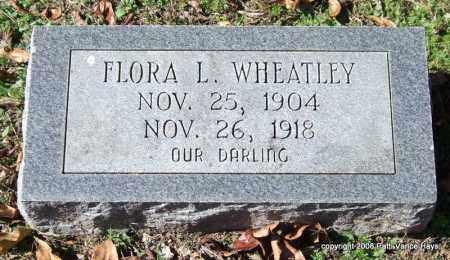 WHEATLEY, FLORA L. - Garland County, Arkansas   FLORA L. WHEATLEY - Arkansas Gravestone Photos