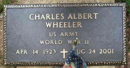 WHEELER (VETERAN WWII), CHARLES ALBERT - Garland County, Arkansas | CHARLES ALBERT WHEELER (VETERAN WWII) - Arkansas Gravestone Photos
