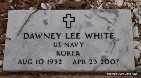 WHITE (VETERAN KOR), DAWNEY LEE - Garland County, Arkansas   DAWNEY LEE WHITE (VETERAN KOR) - Arkansas Gravestone Photos