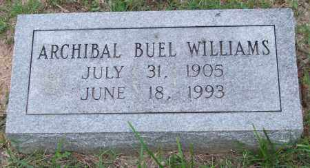 WILLIAMS, ARCHIBAL BUEL - Garland County, Arkansas | ARCHIBAL BUEL WILLIAMS - Arkansas Gravestone Photos