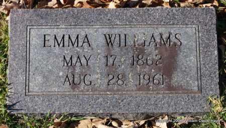 WILLIAMS, EMMA - Garland County, Arkansas | EMMA WILLIAMS - Arkansas Gravestone Photos