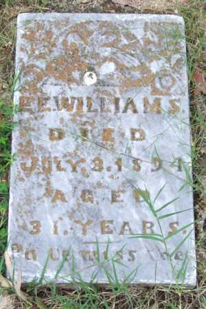 WILLIAMS, E. E. - Garland County, Arkansas | E. E. WILLIAMS - Arkansas Gravestone Photos