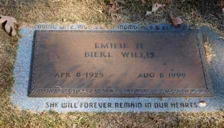 BIERL WILLIS, EMILIE H. - Garland County, Arkansas | EMILIE H. BIERL WILLIS - Arkansas Gravestone Photos