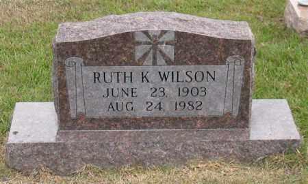 WILSON, RUTH K. - Garland County, Arkansas | RUTH K. WILSON - Arkansas Gravestone Photos