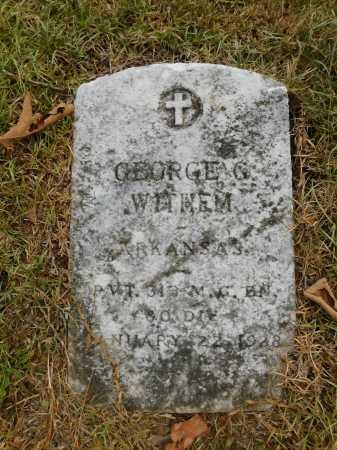 WITHEM (VETERAN), GEORGE G - Garland County, Arkansas   GEORGE G WITHEM (VETERAN) - Arkansas Gravestone Photos