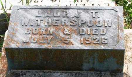WITHERSPOON, LAURA T. - Garland County, Arkansas | LAURA T. WITHERSPOON - Arkansas Gravestone Photos