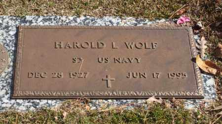 WOLF (VETERAN), HAROLD L - Garland County, Arkansas | HAROLD L WOLF (VETERAN) - Arkansas Gravestone Photos