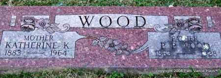 WOOD, P. O. - Garland County, Arkansas | P. O. WOOD - Arkansas Gravestone Photos