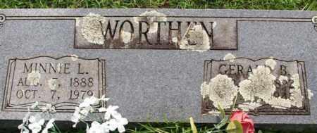WORTHEN, MINNIE L. - Garland County, Arkansas | MINNIE L. WORTHEN - Arkansas Gravestone Photos