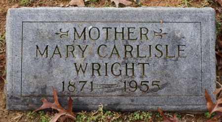 CARLISLE WRIGHT, MARY - Garland County, Arkansas | MARY CARLISLE WRIGHT - Arkansas Gravestone Photos