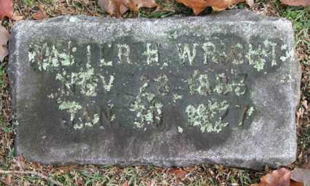 WRIGHT, WALTER H. - Garland County, Arkansas | WALTER H. WRIGHT - Arkansas Gravestone Photos