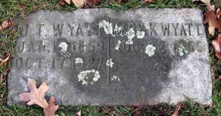 WYATT, J. T. - Garland County, Arkansas | J. T. WYATT - Arkansas Gravestone Photos