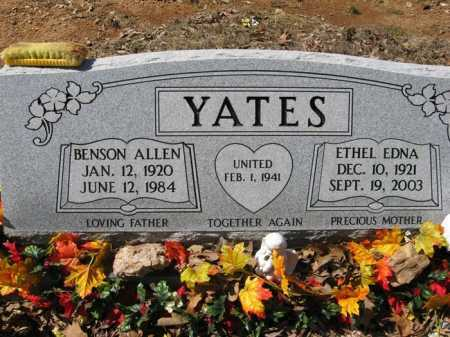 YATES, BENSON ALLEN - Garland County, Arkansas | BENSON ALLEN YATES - Arkansas Gravestone Photos