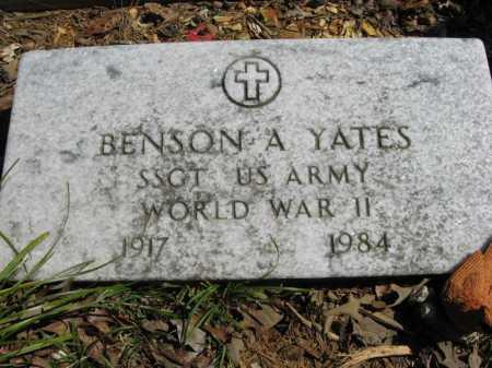 YATES (VETERAN WWII), BENSON A. - Garland County, Arkansas | BENSON A. YATES (VETERAN WWII) - Arkansas Gravestone Photos