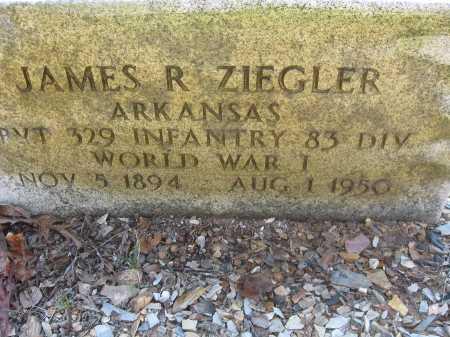 ZIEGLER (VETERAN WWI), JAMES ROBERT - Garland County, Arkansas | JAMES ROBERT ZIEGLER (VETERAN WWI) - Arkansas Gravestone Photos